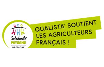 Logo Association Solidarité Paysans Bretagne. Qualista soutient les agriculteurs français !