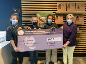 Maison Moreau fait don de 500€ à solidarité Paysans Bretagne